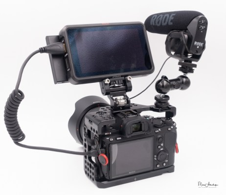 atomos ninja v, smallrig 1135 double end ball head with cold shoe and thumb screw, smallrig 2174 monitor mount with arri locating pins- 023