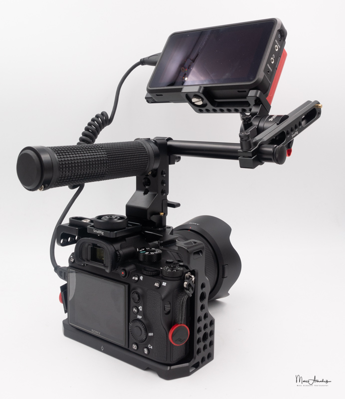 atomos ninja v, smallrig 1903 evf mount with nato rail- 002
