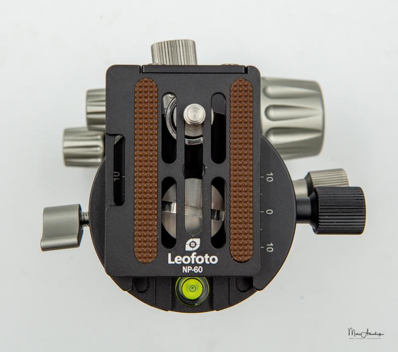 Leofoto Ballhead LH-40GR geared panning clamp-5