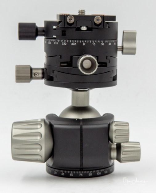 Leofoto Ballhead LH-40GR geared panning clamp, Leofoto LH-40GR-13