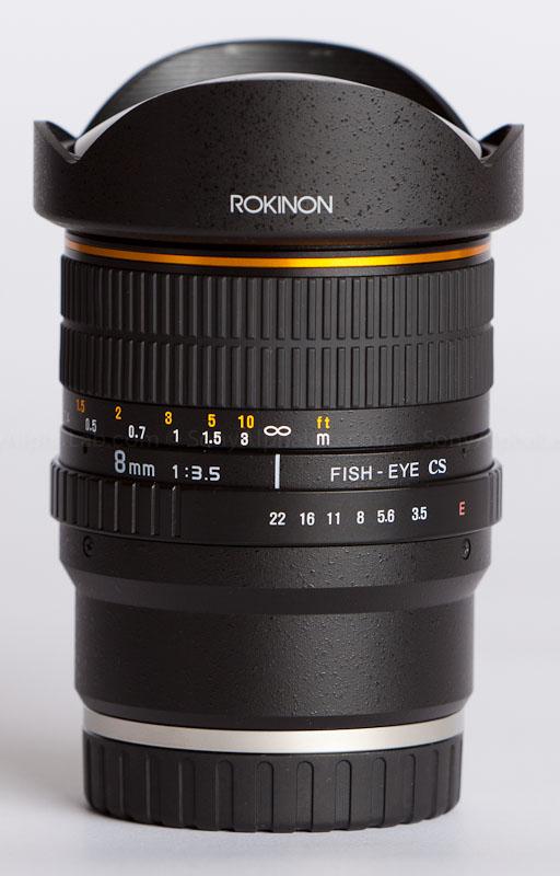 Rokinom 8mm fisheye lens