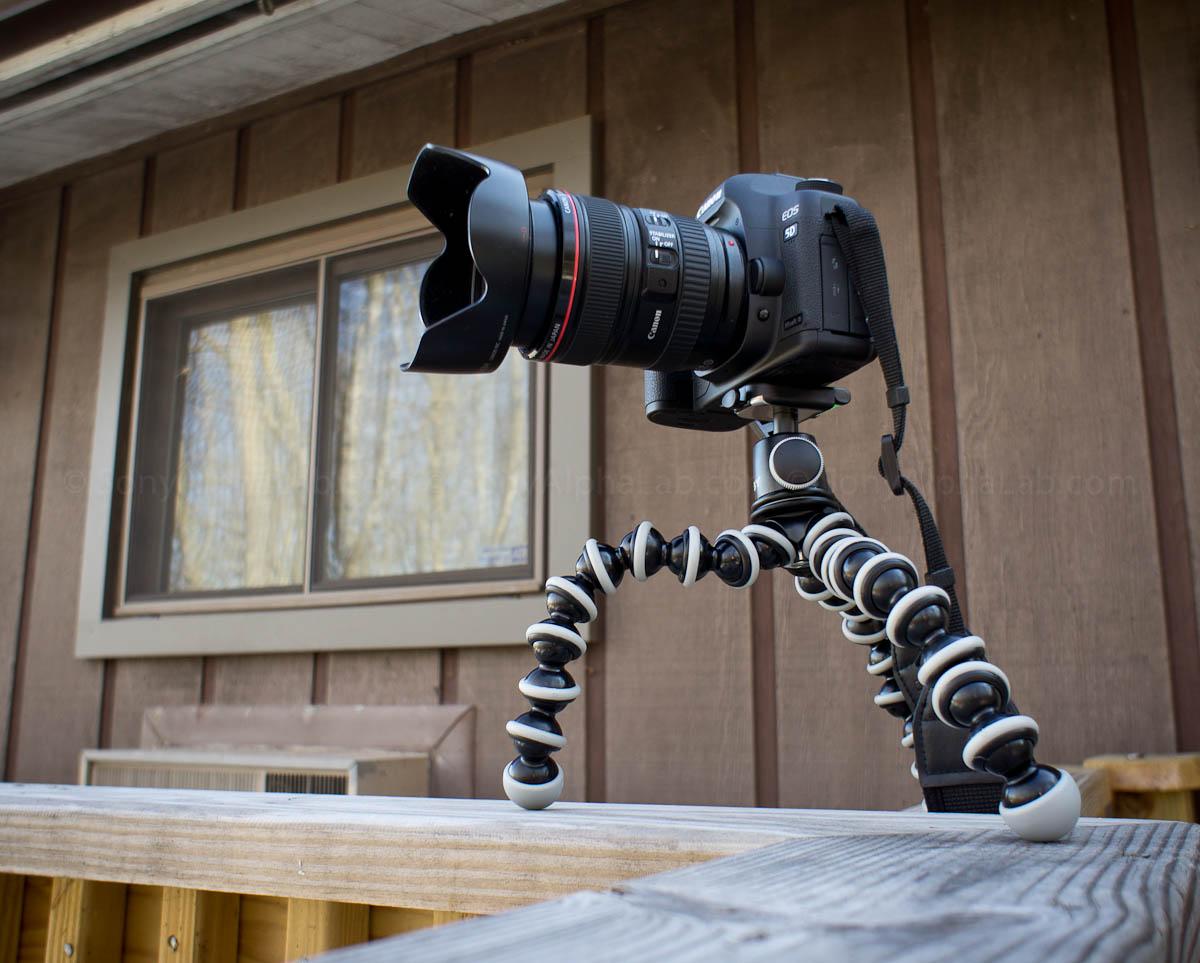 Joby Gorrillapod SLR-Zoom w/ Ballhead and my Canon 5d Mark II w/ Lens