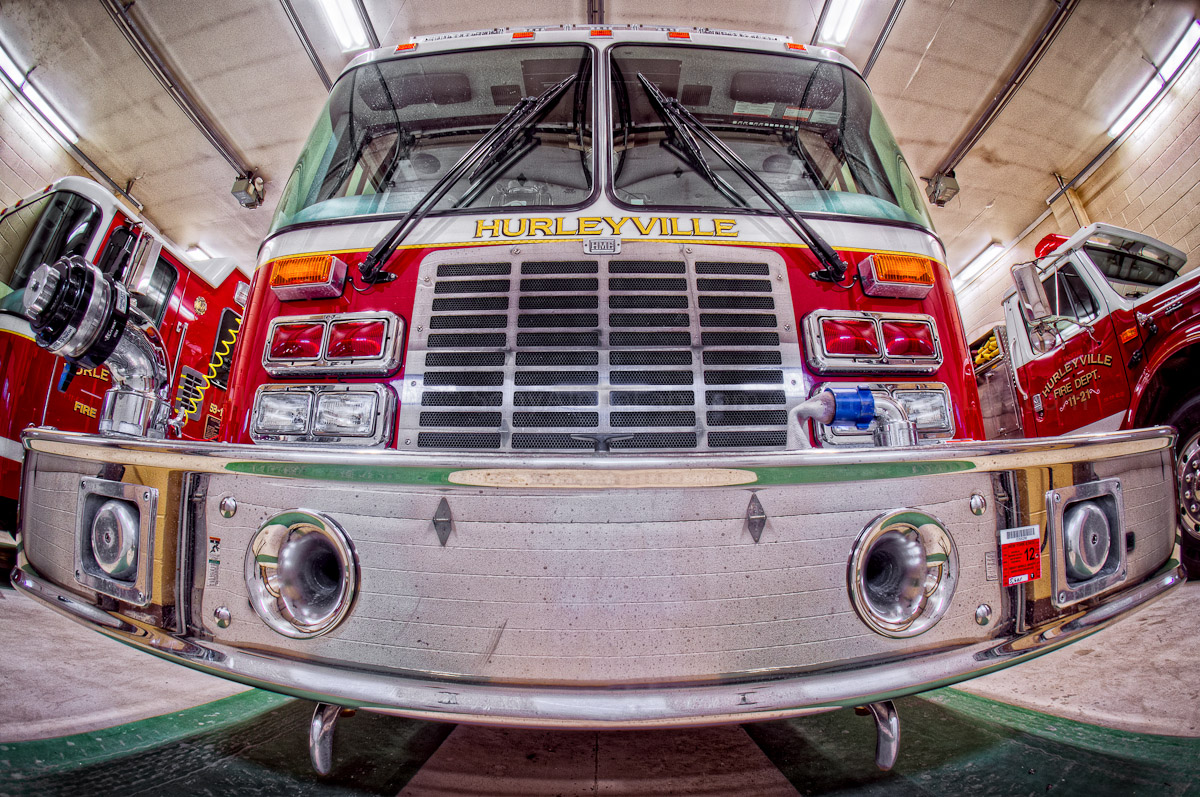 Hurleyville Firetruck - Smiing using the Fisheye Conversion lens and 16mm E-Mount on the Nex-5n