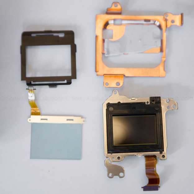 Nex-7 - Sensor assembly mostly disassembled and filter removed