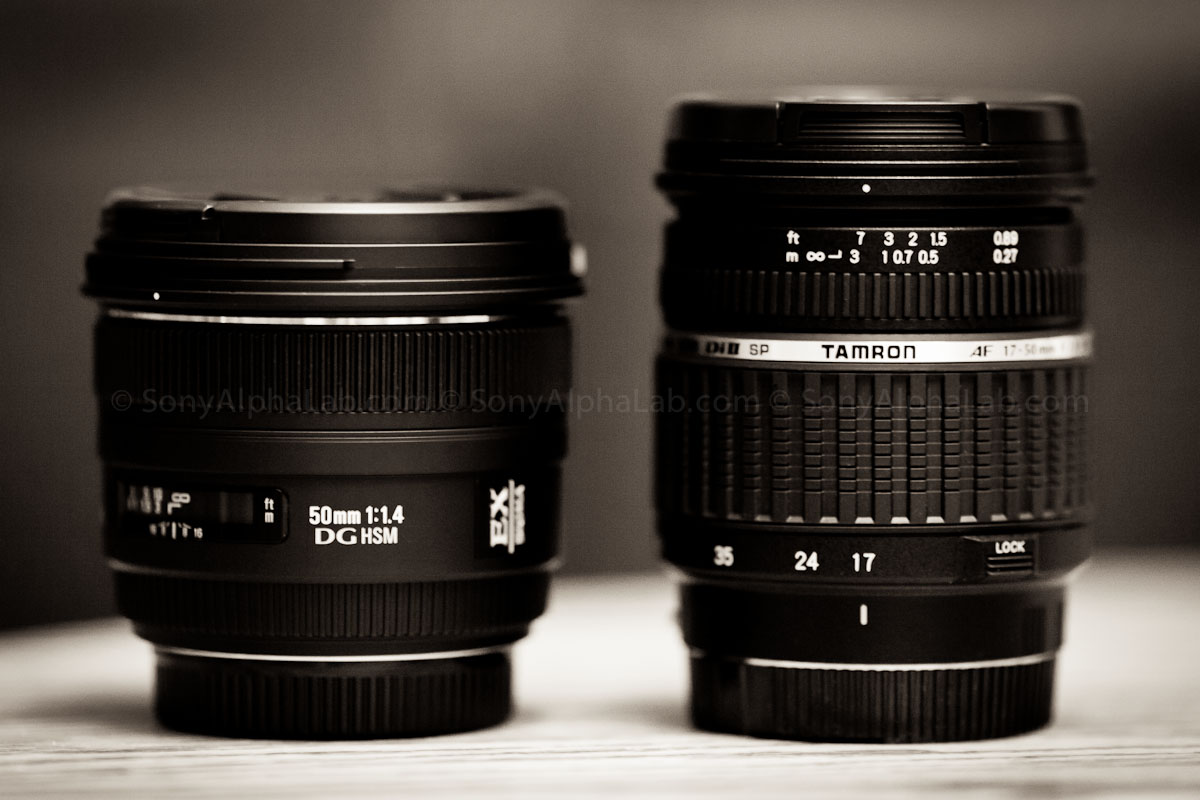 Sigma 50mm f/1.4 EX DG HSM Lens and the Tamron SP 17-50mm f/2.8 XR Di II LD Lens