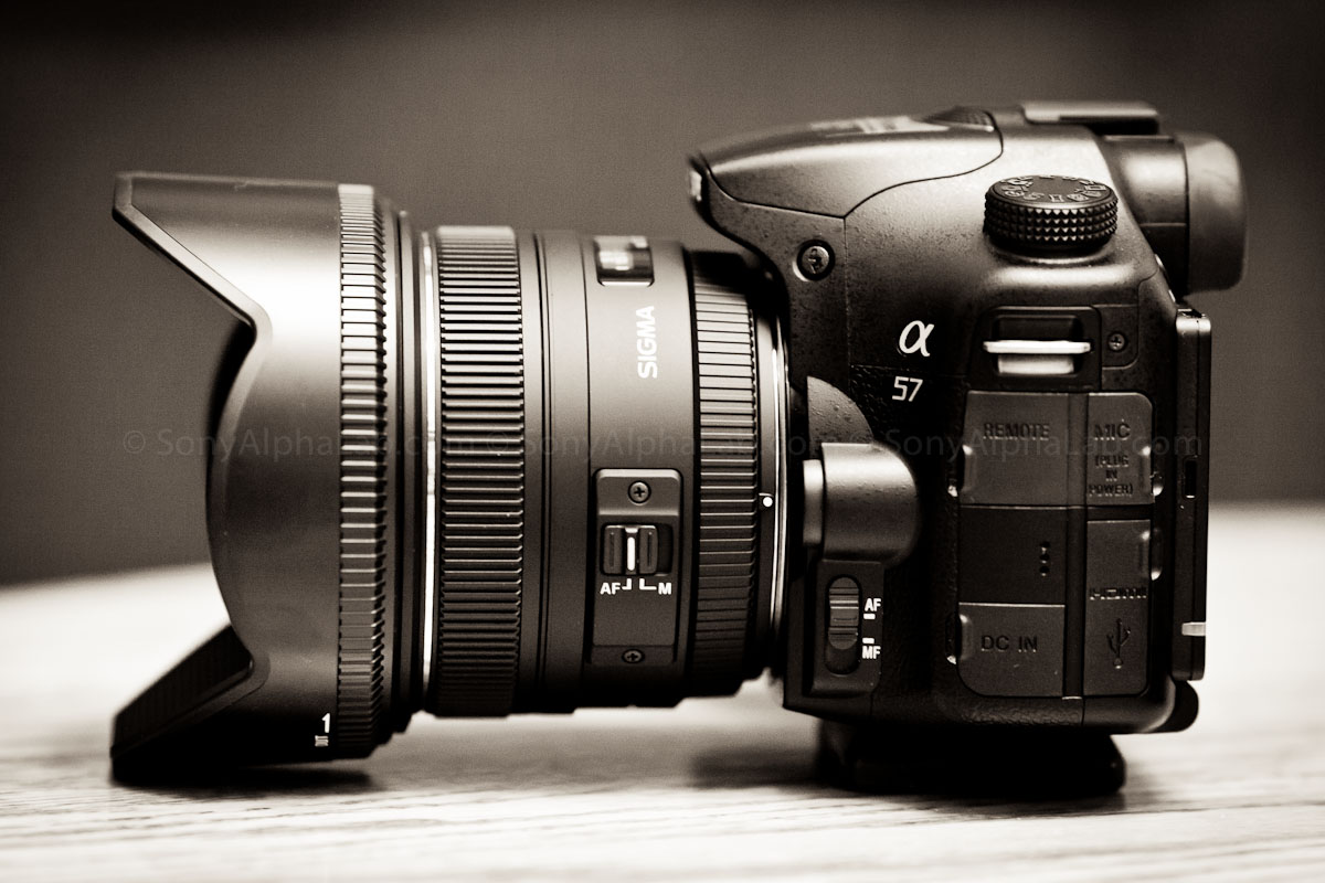 Sony A57 and the Sigma 50mm f/1.4 EX DG HSM Lens