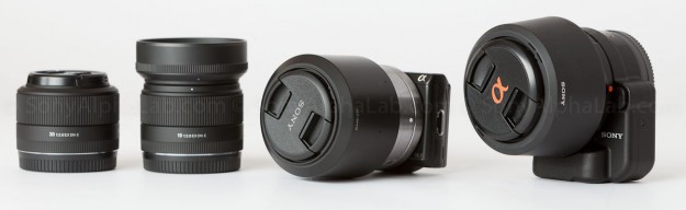 Sony Nex-5n, La-ea2 Adapter, DT 35mm f/1.8 Lens, 50mm f/1.8 OSS Lens, and the Sigma 19mm and 30mm f/2.8 EX DN Lenses