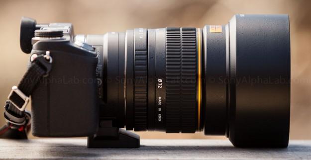 Rokinon A-Mount 85mm f/1.4 Lens on Nex-6 w/ LA-EA1 lens adapter