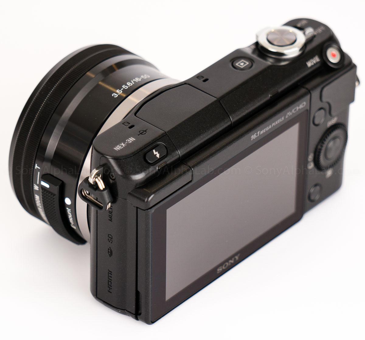Sony Nex-3n - Back 3/4