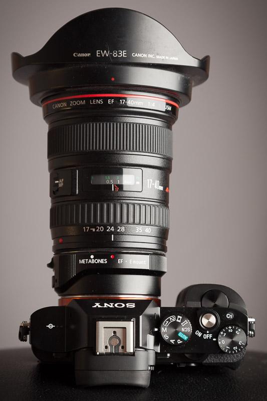 Sony A7r w/ Metabones III, Canon EF 17-40 F/4 L Lens