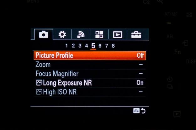 Sony A7s Menu - Picture Profile