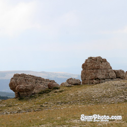 Rock formations in the Big Horn Mountains