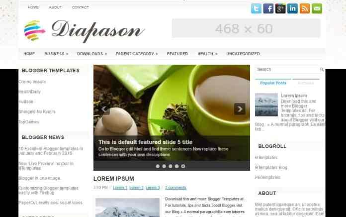 top 25 template blogspot mien phi tot nhat - Template 16