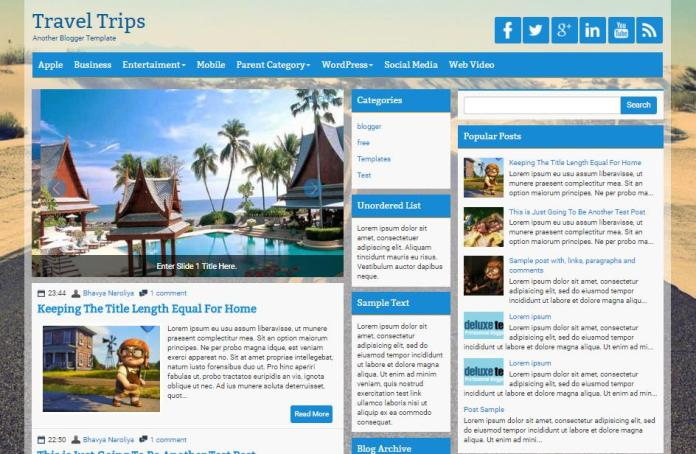 top 25 template blogspot mien phi tot nhat - Template 2
