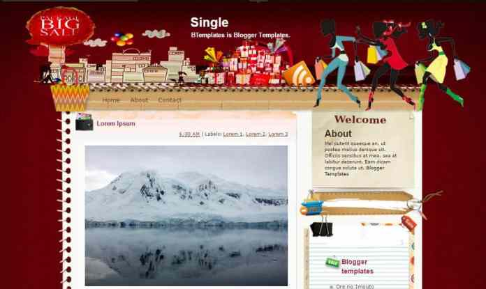 top 25 template blogspot mien phi tot nhat - Template 22