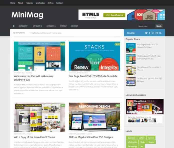 top 25 template blogspot mien phi tot nhat - Template 23