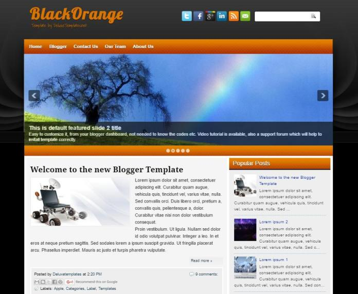 top 25 template blogspot mien phi tot nhat - Template 7