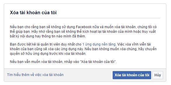 Cach xoa tai khoan facebook tam thoi hoac xoa vinh vien - Anh 3