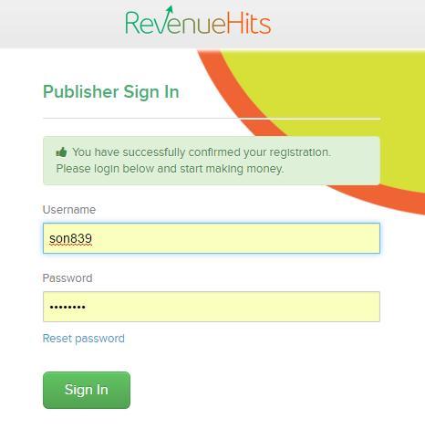 kiem tien tu blog website bang cach dat quang cao voi RevenueHits - Anh 6