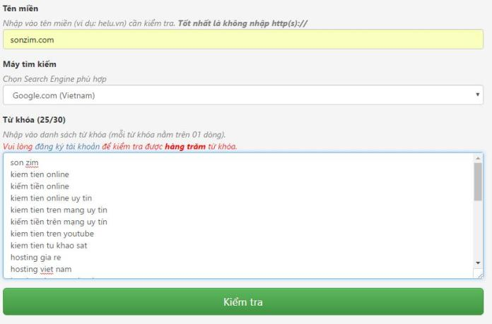 Cách kiểm tra thứ hạng từ khóa bằng công cụ Helu Ranking - Ảnh 2
