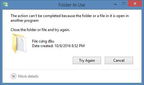 Cách xóa file cứng đầu trên máy tính - Ảnh 1