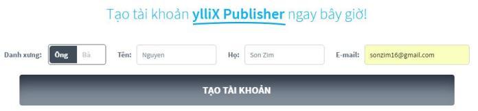 Kiếm tiền từ website hoặc blog với quảng cáo ylliX - Ảnh 2