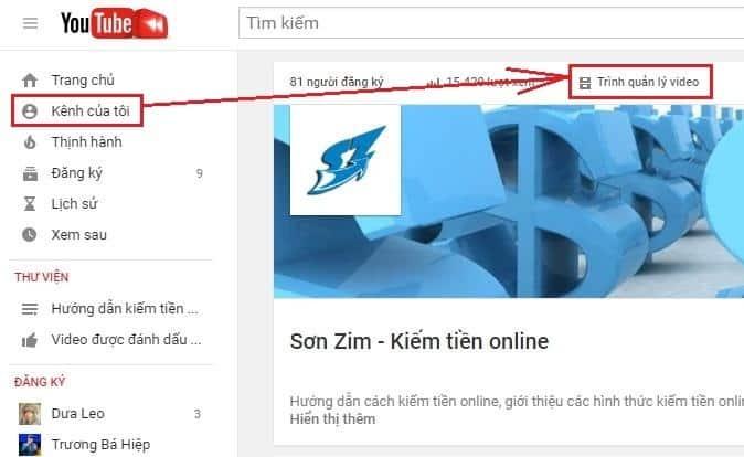 Các bước thiết lập kênh Youtube - 3