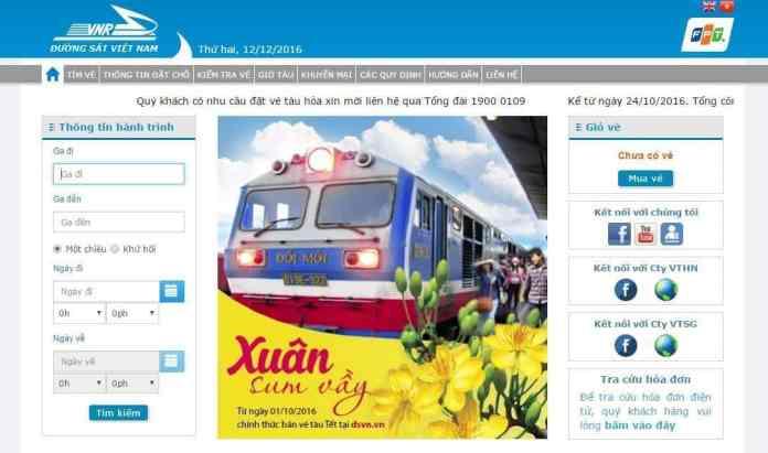 Nhiều website bán vé tàu giả các bạn nên cẩn thận