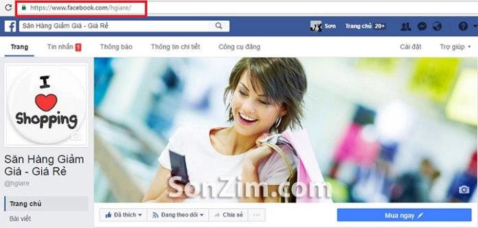 Cách thay đổi đường link FanPage Facebook - bước 3
