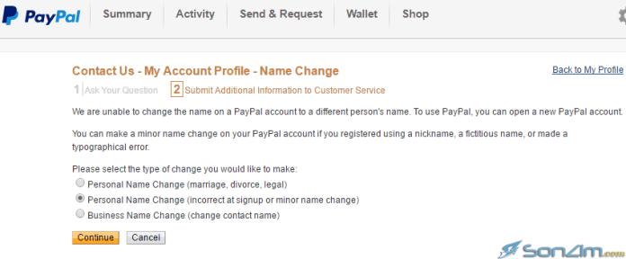 Hướng dẫn thay đổi họ tên trên PayPal - 3