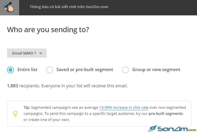 Tự động gửi email trên MailChimp - 3