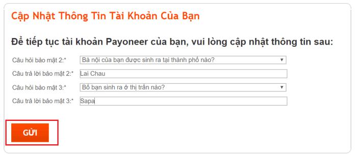 Cách đăng ký Payoneer - Bước 8