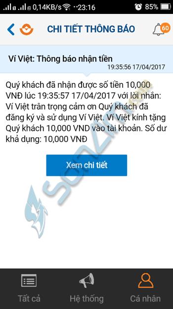 Kiếm tiền trên điện thoại với ứng dụng Ví Việt - 3