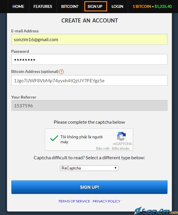 Cách kiếm bitcoin miễn phítrên freebitcoin - 1