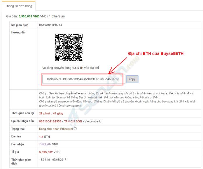 Cách mua bán ETH trên BuysellETH bằng tài khoản ngân hàng Việt Nam - 5
