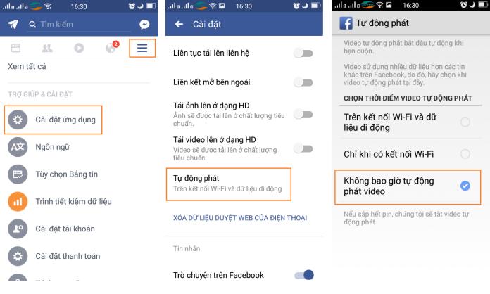 Cách tắt tự phát video trên Facebook - 4