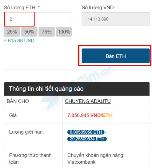Cách bán ETH trên Remitano - Cách 2 bước 2