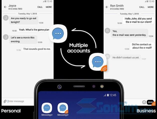 Samsung Galaxy A6 và A6+ (2018) - Dual messenger