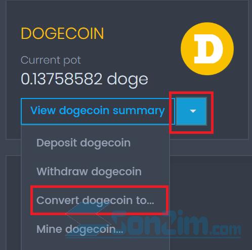 Cách đổi coin trên CoinPot - 1