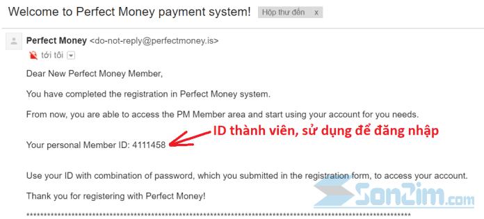 Cách tạo tài khoản Perfect Money - Bước 3