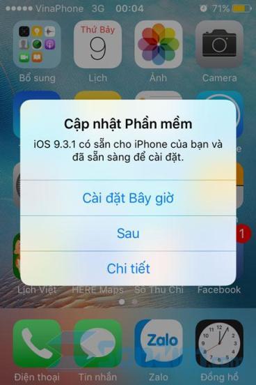 Tắt thông báo cập nhật phiên bản mới cho iPhone