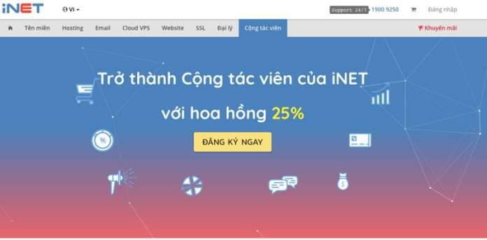 Hướng dẫn tạo tài khoản Cộng tác viên trên iNET.vn - 1