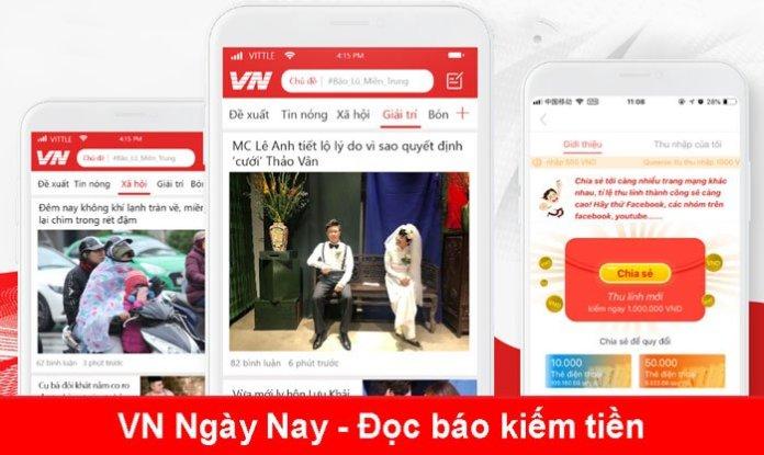 VN Ngày Nay - Kiếm tiền từ việc đọc báo trên điện thoại