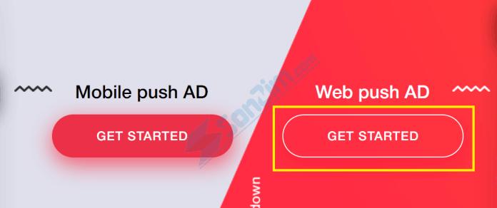 Cách đăng ký mạng quảng cáo thông báo đẩy DatsPush - Bước 1