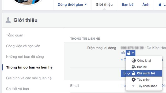 Sử dụng facebook an toàn: Để các thông tin cá nhân ở chế độ riêng tư