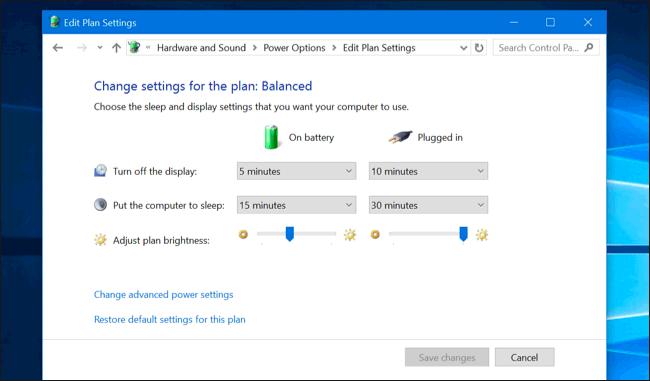 Cách chơi game không giật lag trên laptop - Điều chỉnh năng lượng
