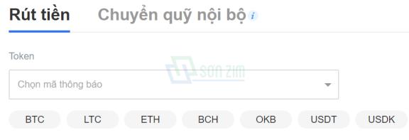 Cách rút coin trên OKEx - 2