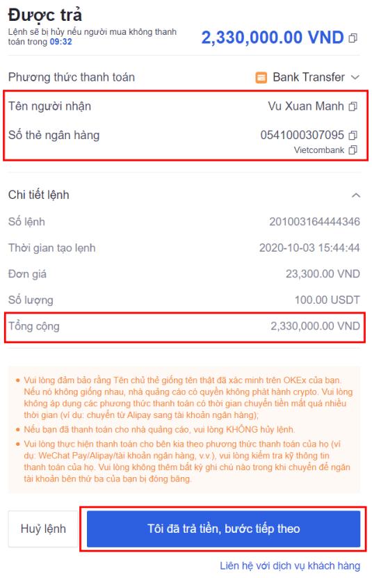 Cách mua USDT bằng VND trên OKEx - 4