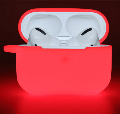 coque airpods fluorescente rouge
