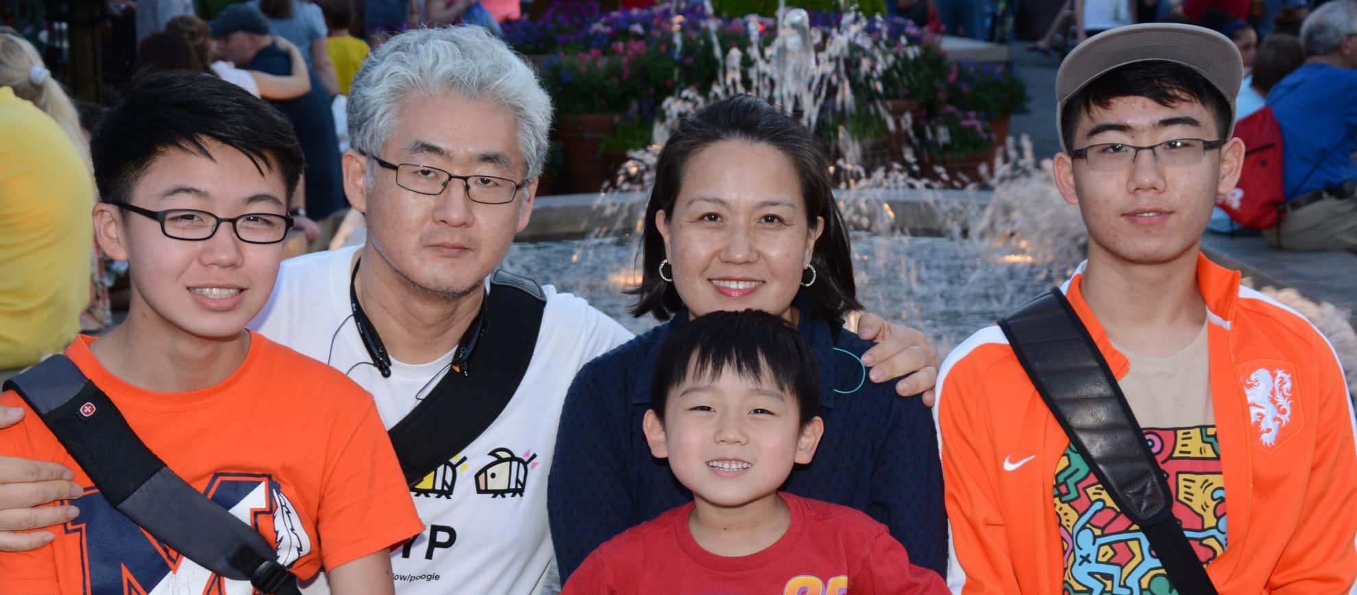 Kang Family left to right: Christopher, John, Jenny, Jackson , Alex